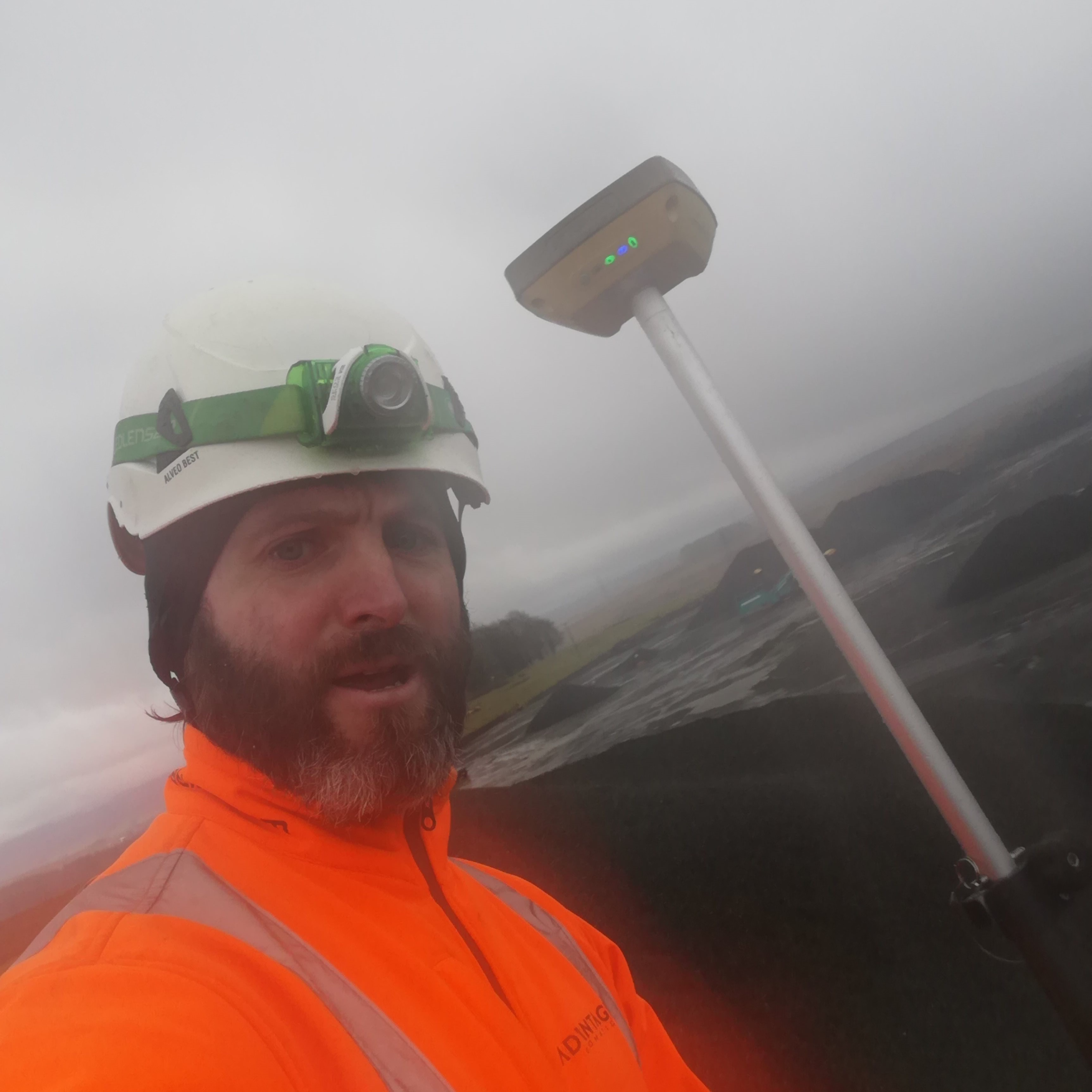 A wet December day surveying stocks in Cumbria