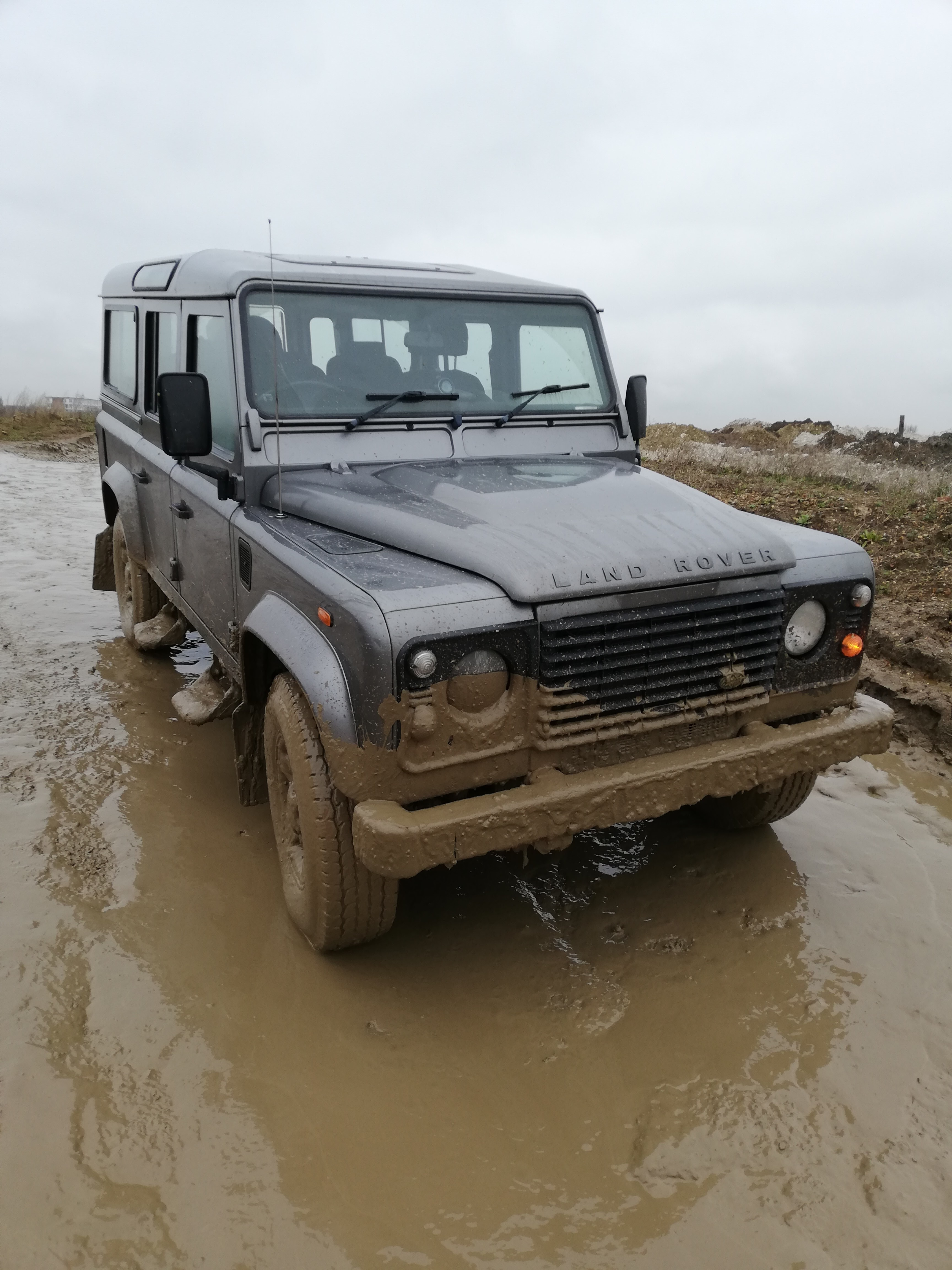 Land Rover on site