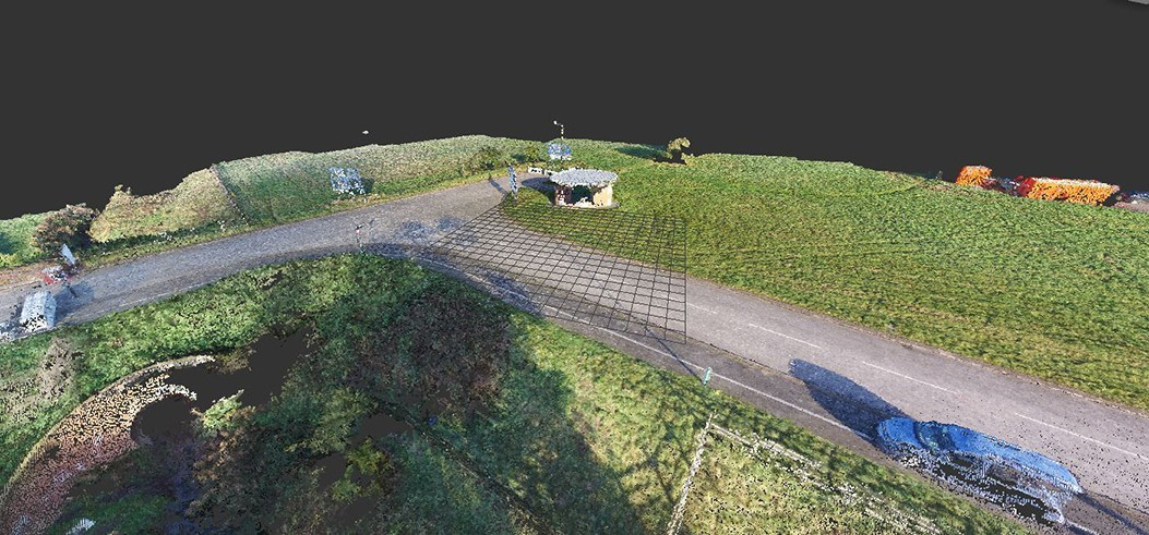 3D Point Cloud generated from Pix4D data