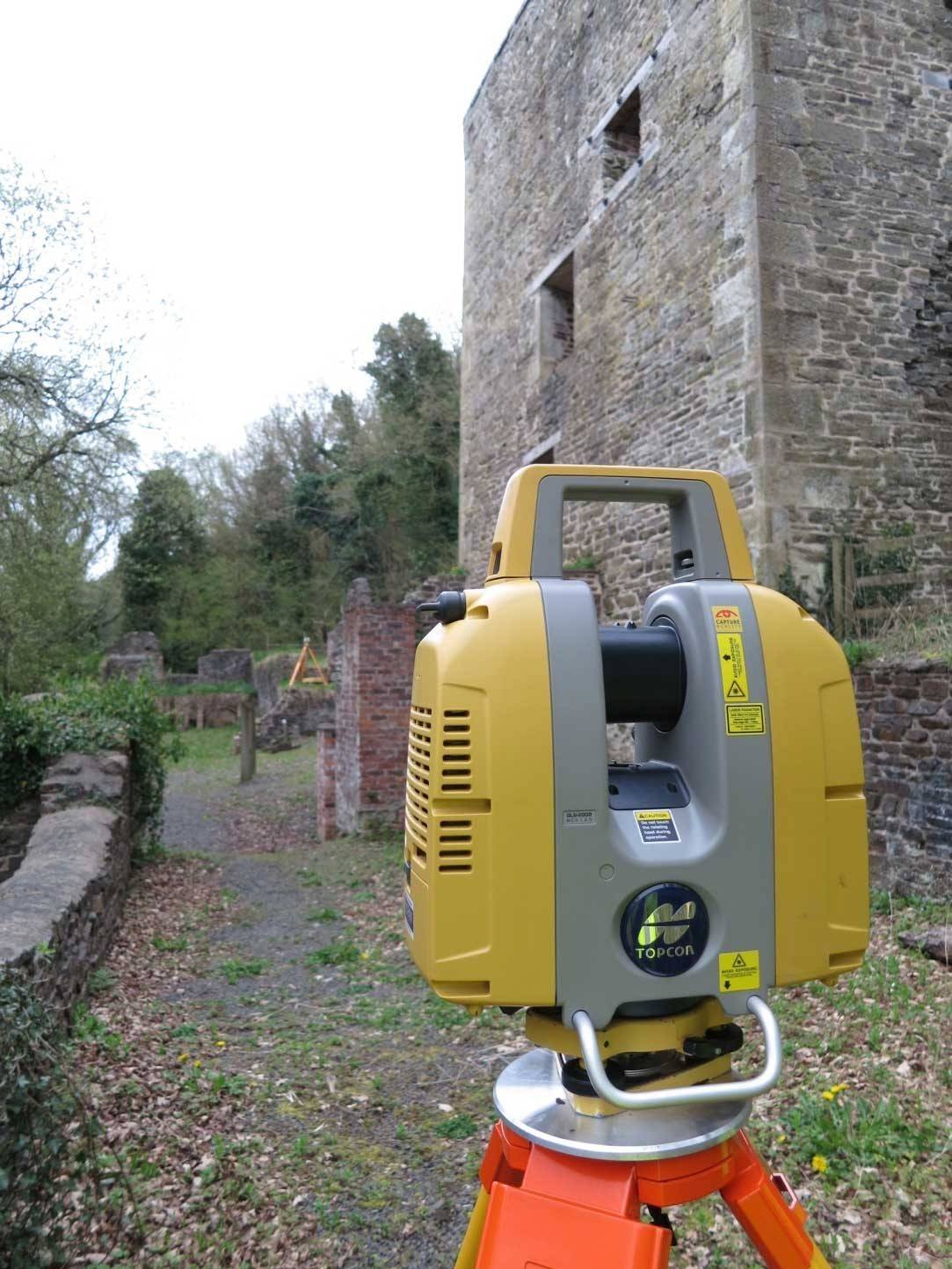 Figure 1 Topcon GLS2000 scanning at the engine house