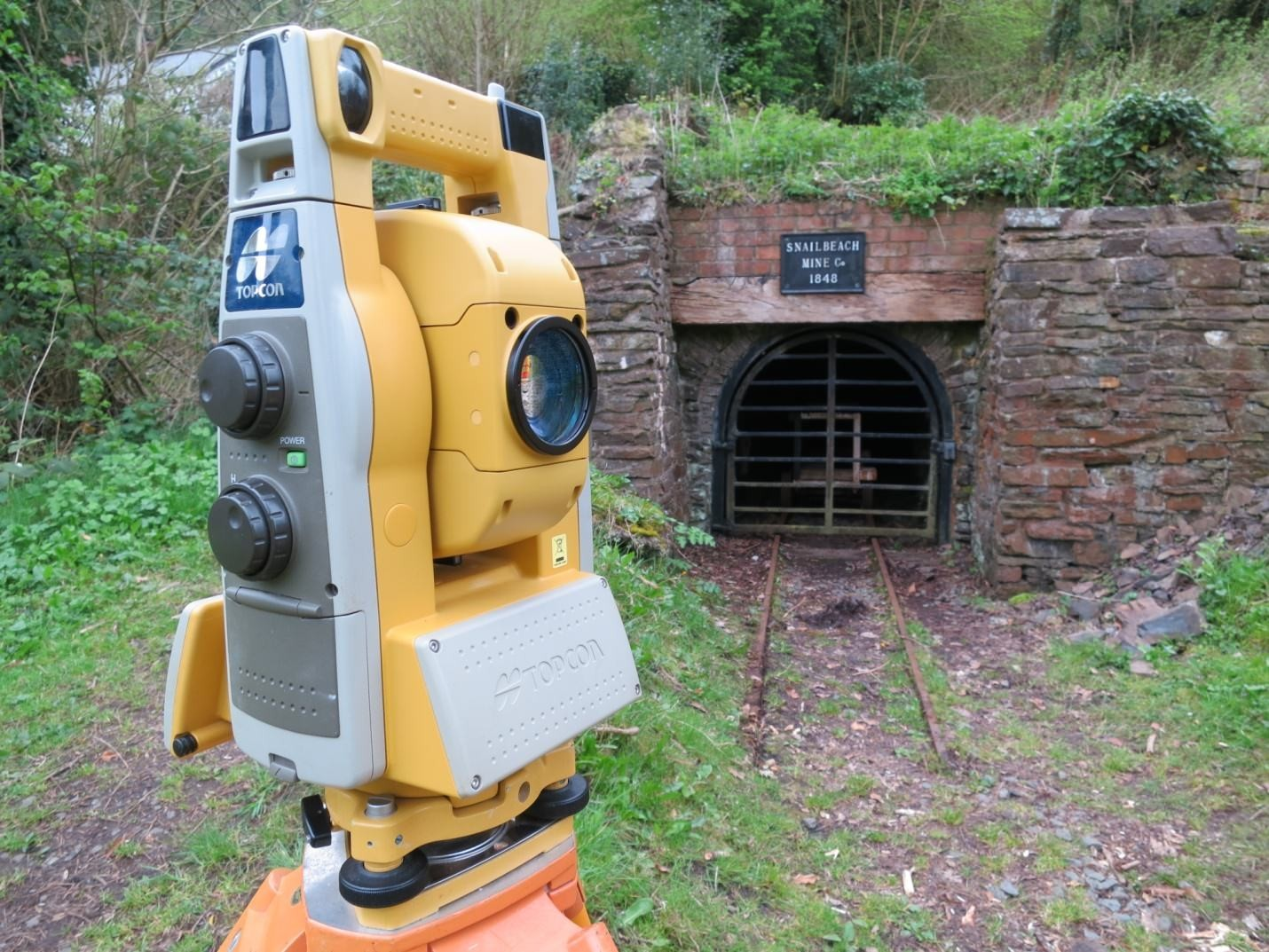 Figure 6 Topcon GPT9005 at entrance to the Day Level, Snailbeach Mine
