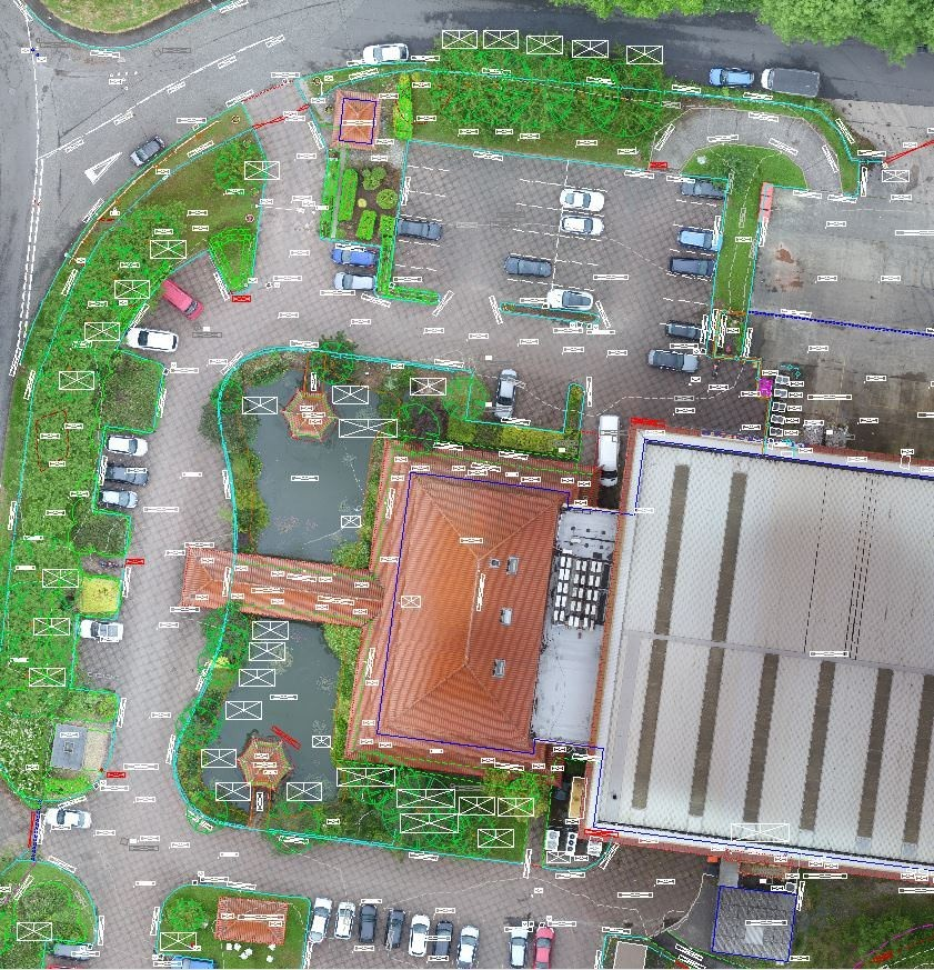 Topo with drone imagery
