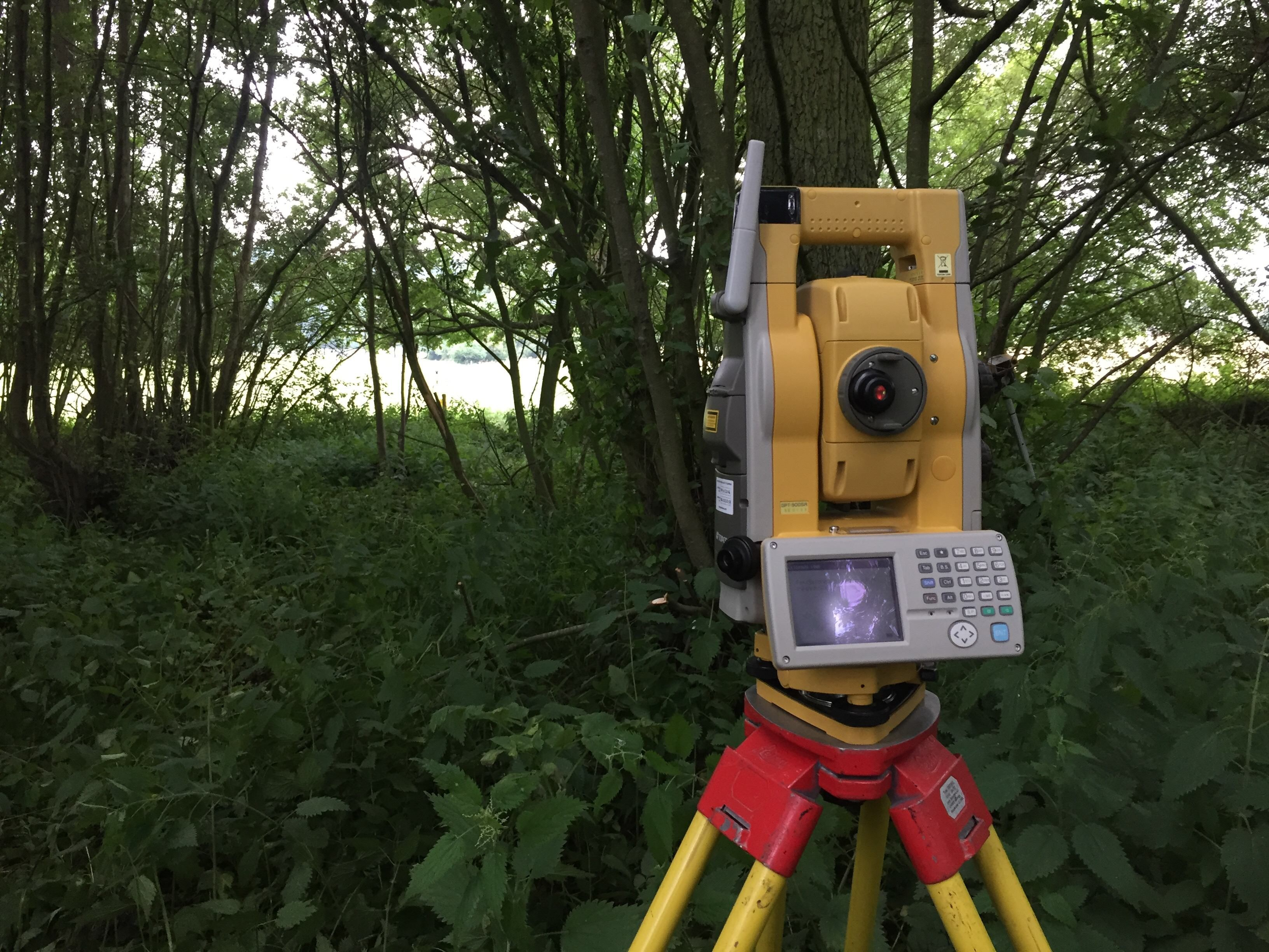 When the GNSS couldnt receive satellite data the Total Station came out